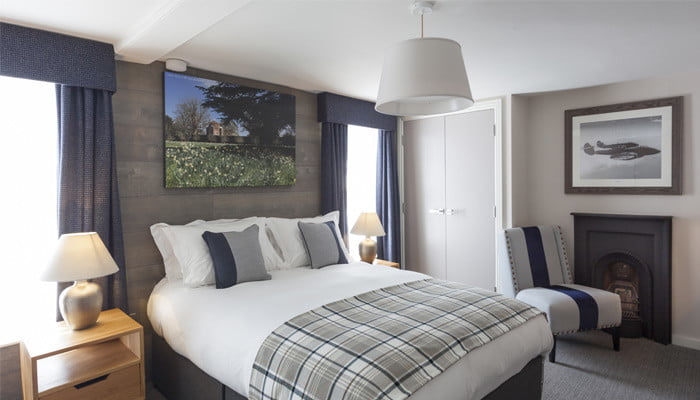 Hotel bedrooms at The Red Lion