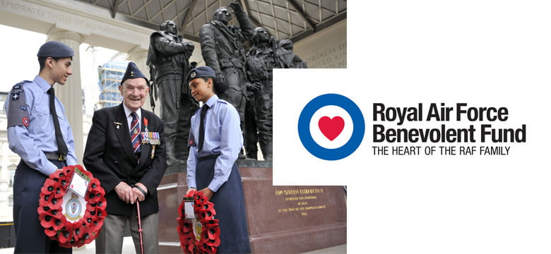 Cadets and veteran at RAF memorial