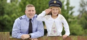 Father and daughter in the RAF